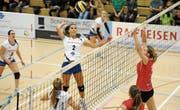 Volley Toggenburg schwimmt nach dem perfekten Saisonstart mit drei Siegen auf einer Erfolgswelle. (Bild: Reinhard Kolb)