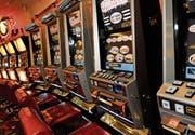 Spielautomaten im Casino St. Gallen. (Bild: Ralph Ribi)