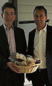 Robin Alder (links) gemeinsam mit Michele Vela, neuer Präsident der Vereinigung. (Bild: PD)