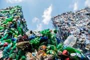 PET-Flaschen aus der Region werden von der Müller Recycling AG in Frauenfeld zu neuen Flaschen verarbeitet. (Bild: Reto Martin)