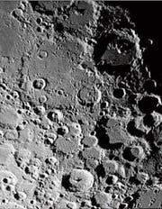 Eine Mondaufnahme aus der Sternwarte Antares. (Bild: PD)
