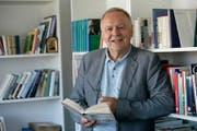 Gottlieb F. Höpli, Chefredaktor St. Galler Tagblatt, hat heute seinen letzten Arbeitstag. (Bild: Ralph Ribi)