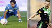 Bleiben den Espen treu: Daniel Lopar (links) und Marco Aratore. (Bild: Archiv)