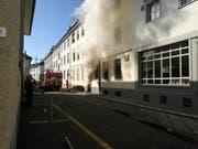 Es brennt in der St.Galler Innenstadt. (Bild: Elisabeth Reisp)