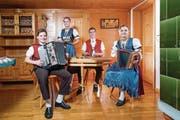 Die Geschwister Sutter aus Waldkirch - Fabian Sutter ist ganz links im Bild. (Bild: Urs Bucher)