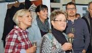 Blicken gemeinsam in die Zukunft: (v. l.) Sabina Zeric, neu in der GPK, Kantonsrätin Laura Bucher, die neue Gemeinderätin Jacqueline Stäbler und der bestätigte Schulrat Thomas Tinner. (Bild: mse)