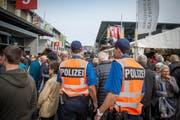 In diesem Jahr hat die Polizei ihre Präsenz an der Olma verstärkt. (Bild: Urs Bucher)