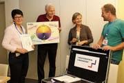 Daniela Graf-Willi, Peter Bünzli, Vreni Wild und Martin Beck (von links) standen für die Fragen der möglichen zukünftigen Kursleiterinnen und Kursleiter zur Verfügung. (Bild: Cecilia Hess-Lombriser)