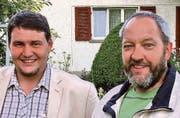 Die Gemeinderatskandidaten Daniel Juninger (l.) und Bruno Frei. (Bilder: pd)