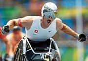 Rollstuhl-Leichtathlet Marcel Hug wird sich den Fragen von Handbike-Rennfahrerin Anja Pucher aus Buchs stellen. (Bild: pd)
