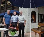 Luciano Benic, Leitung-Stellvertreter, Kilian Looser, Gemeindepräsident Nesslau, und Michael Forster, Leitung Asylunterkunft Seeben (von links). (Bilder: Adi Lippuner)