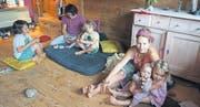 Momente der Ruhe und Gelassenheit – trotz vier Kindern. Die Spitex-Frauen machten es möglich. (Bild: mb.)