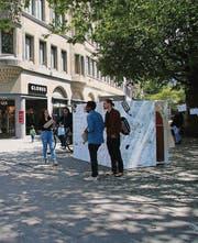 Der Zeichnungsautomat am Multertor. (Bild: Urs Voegeli)