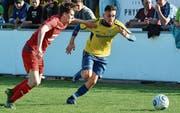 Offensiv-Allrounder Rijad Abazi (rechts) stürmt 2017/18 wieder für den FC St. Margrethen. (Bild: Archiv/ys)