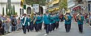 Die Bürgermusik Wildhaus überbrachte «Grüsse aus Wildhaus» auf der Marschmusikstrecke und erhielt dafür gute 82 Punkte. (Bild: pd)