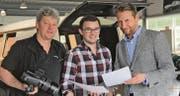 Sie haben die neue Rhema-Kampagne lanciert (von links): Benno B. A. Stadler, Simon Büchel und Willy Tanner. (Bild: pd)