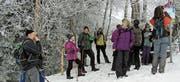 Entlang des Wanderweges beobachten die Wandernden immer wieder besondere Schneebilder. (Bild: PD)