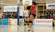 Die Spielerinnen von Volley Toggenburg spielen eine starke Saison und belegen nicht umsonst einen Spitzenplatz. (Bild: Reinhard Kolb)