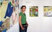 Beatrice Dörig legt mit ihren Ölbildern auch die Geschichte frei, die jeweils hinter der fotografierten Vorlage steht. (Bild: Hanspeter Schiess)