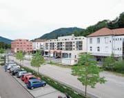 Toggenburger Gemeinden sind stark. Wattwil zum Beispiel hat beim Versorgungsangebot deutlich zugelegt. Im Bild die «neue Discountermeile» an der Rietwisstrasse mit Lidl und Denner in Wattwil. (Bild: Serge Hediger)