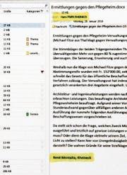 Der Leserbrief des GPK-Aktuars wurde im Rathaus geschrieben, im Büro des Stadtpräsidenten. (Bild: Gert Bruderer)