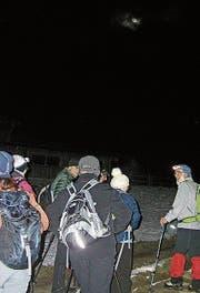 Die Wandernden geniessen den Marsch in der Nacht. (Bild: PD)