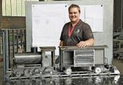 «Alles musste beim ersten Anlauf perfekt passen»: Michael Graf hat an den Swiss Skills der Metallbauer den zweiten Rang belegt. (Bild: pd)