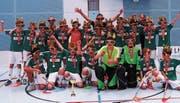 Die Freude über den Sieg ist bei den U14-Junioren gross. (Bild: PD)