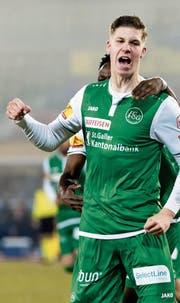 Cedric Itten, einer der Erfolgsgaranten des FC St. Gallen. (Bild: Pascal Muller/Freshfocus)