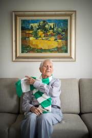 Mit dem FC St.Gallen ist Hans Hurni bis heute eng verbunden. (Bild: Benjamin Manser)