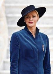 Fürstin Charlene von Monaco in Akris. (Bild: Pascal Le Segretain/Getty)