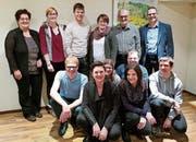 Die 13 Vereinsmitglieder mit vorbildlicher Probenpräsenz. (Bild: pd)