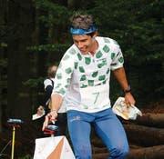Martin Hubmann trägt mit zwei Siegen zum Gesamterfolg der St. Galler am Arge-Alp-OL bei. (Bild: Mario Ammann)