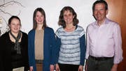 Der neue Vorstand (von links): Manuela Meier-Grüninger (Events), Susanne Ruppanner (Aktuarin), Brigitte Lang (Kassierin) und Hugo Eisenbart (Präsident). (Bild: pd)