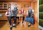 Fabian, Stefanie, Lukas und Jasmin (von links). (Bild: Urs Bucher)