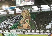 Der Gallier Asterix kämpft für St. Gallen. (Bild: Eddy Risch/KEY)