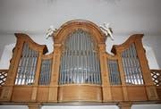 Der Mittelteil der 1953 errichteten Orgel in der Kirche St. Michael in Lütisburg. (Bild: Marco Cappellari)