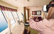 Neu in Ostschweizer Reisebüros: Mit der Virtual-Reality-Brille auf Entdeckungstour auf dem Kreuzfahrtschiff. (Bild: PD)