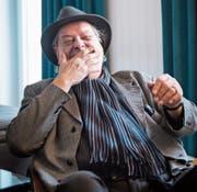 Endo Anaconda, der Frontmann von Stiller Has, geniesst den Moment. (Bild: Boris Bürgisser)