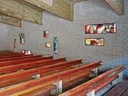 Die Kapelle mit den Farbfenstern befindet sich im obersten Stock der Handwerkschule in Taidong. (Bild: pd)