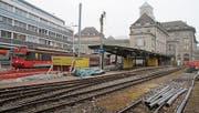 Die Züge nach Appenzell haben das Gleis gewechselt. (Bild: David Gadze)
