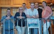 Der Vorstand Verein Käsetage Toggenburg mit Reto Meile, Christina Buchser, Hans Stadelmann, Reto Güntensperger, Moreno Grisendi und Präsidentin Elisabeth Scherrer (von links). (Bild: Adi Lippuner)