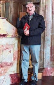 Seit über 50 Jahren spielt Hansjürg Gutgsell Orgel. Er präsentiert diese seiner Zuhörerschaft als exklusives Instrument. (Bild: PD)