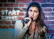 Melonport-Gründerin Mona El Isa malt eine Zukunft aus, in der Vermögensverwaltung durch Blockchain revolutioniert wird. (Bild: Michel Canonica)