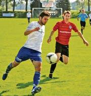 Auf Sahin Irisme konnte sich der FC Widnau gestern verlassen – der Stürmer schoss drei Tore und war damit massgeblich am 4:3-Sieg gegen Seuzach beteiligt. (Bild: Remo Zollinger)