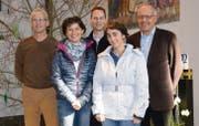 Seit Jahresbeginn arbeitet der Verwaltungsrat in neuer Zusammensetzung: Beat Thaler (Liegenschaften), Franziska Dürr (Anlässe), Matthias Gehrig (Vizepräsidium und Kassier), Nicole Manser (Aktuariat) und Präsident Karl Schönenberger (von links). (Bild: Zita Meienhofer)