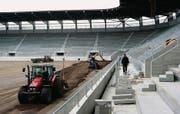 Baustelle FC St. Gallen: Zwar ist das neue Stadion – hier vor der Eröffnung 2008 – längst gebaut, doch die Finanzen bleiben eine Baustelle. (Archivbild: Ralph Ribi)