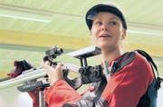 Barbara Schläpfer, die Gaiser Gewehrschützin, trainiert im Schiesssportzentrum Teufen. (Bild: Urs Huwyler)