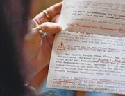 «Ich hörten Ihren Schrei der Not»: So beginnt der sechsseitige Brief. (Bild: Coralie Wenger)