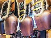 Die Riemen der Glocken und Schellen stammen aus der Etro-Werkstatt in Rorschach und sind bei den Schwingern hoch im Kurs. (Bild: pd)